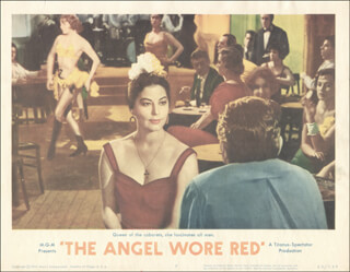 Autographs: ANGEL WORE RED MOVIE CAST - LOBBY CARD UNSIGNED (USA) 1960