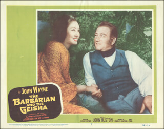 BARBARIAN & THE GEISHA MOVIE CAST - LOBBY CARD UNSIGNED (USA) 1958