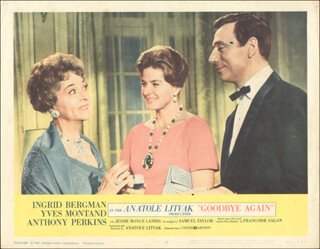 GOODBYE AGAIN MOVIE CAST - LOBBY CARD UNSIGNED (USA) 1961