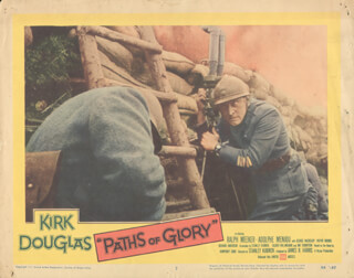 PATHS OF GLORY MOVIE CAST - LOBBY CARD UNSIGNED (USA) 1957