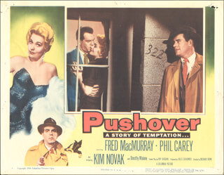 PUSHOVER MOVIE CAST - LOBBY CARD UNSIGNED (USA) 1954