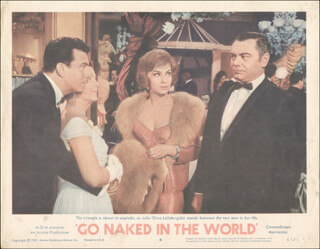 GO NAKED IN THE WORLD MOVIE CAST - LOBBY CARD UNSIGNED (USA) 1961