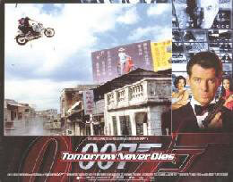 TOMORROW NEVER DIES MOVIE CAST - LOBBY CARD UNSIGNED (USA) 1997