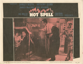 HOT SPELL MOVIE CAST - LOBBY CARD UNSIGNED (USA) 1958