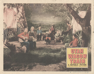utah wagon train movie cast lobby card unsigned usa