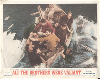 Autographs: ALL THE BROTHERS WERE VALIANT MOVIE - LOBBY CARD UNSIGNED (USA) 1953