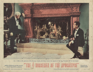 FOUR HORSEMEN OF THE APOCALYPSE MOVIE - LOBBY CARD UNSIGNED (USA) 1961
