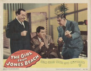 GIRL FROM JONES BEACH MOVIE CAST - LOBBY CARD UNSIGNED (USA) 1949