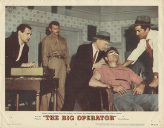 BIG OPERATOR MOVIE CAST - LOBBY CARD UNSIGNED (USA) 1959
