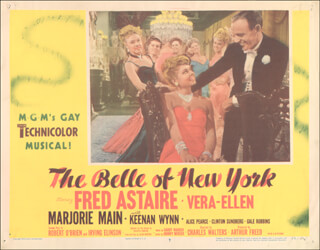BELLE OF NEW YORK MOVIE CAST - LOBBY CARD UNSIGNED (USA) 1952