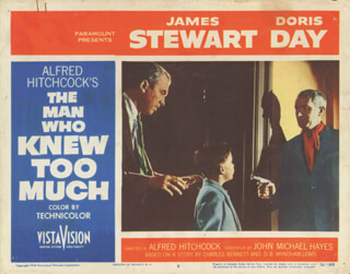 MAN WHO KNEW TOO MUCH MOVIE CAST - LOBBY CARD UNSIGNED (USA) 1956