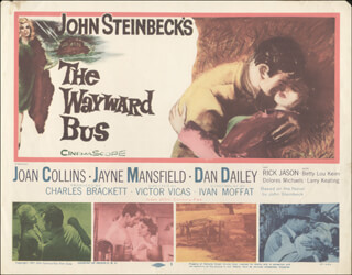 WAYWARD BUS MOVIE CAST - LOBBY CARD UNSIGNED (USA) 1957