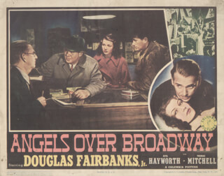 Autographs: ANGELS OVER BROADWAY MOVIE CAST - LOBBY CARD UNSIGNED (USA) 1940