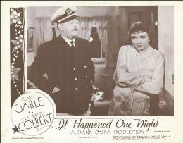 IT HAPPENED ONE NIGHT MOVIE CAST - LOBBY CARD UNSIGNED (USA) 1948