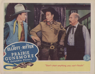 PRAIRIE GUNSMOKE MOVIE CAST - LOBBY CARD UNSIGNED (USA) 1942