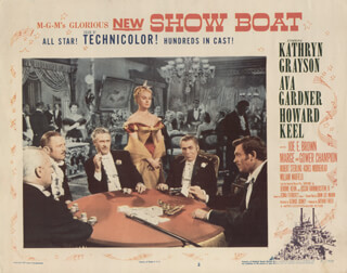 SHOW BOAT MOVIE CAST - LOBBY CARD UNSIGNED (USA) 1951