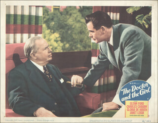 DOCTOR & THE GIRL MOVIE CAST - LOBBY CARD UNSIGNED (USA) 1949