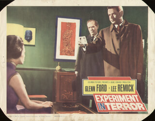 EXPERIMENT IN TERROR MOVIE CAST - LOBBY CARD UNSIGNED (USA) 1962