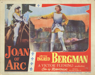 JOAN OF ARC MOVIE CAST - LOBBY CARD UNSIGNED (USA) 1948