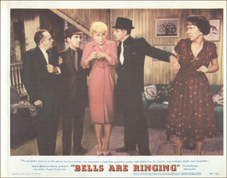 BELLS ARE RINGING MOVIE CAST - LOBBY CARD UNSIGNED (USA) 1960
