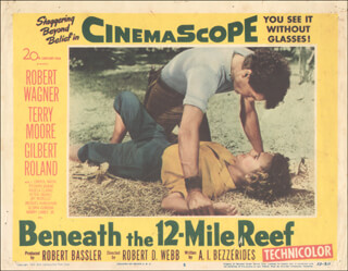 BENEATH THE 12 MILE REEF MOVIE CAST - LOBBY CARD UNSIGNED (USA) 1953