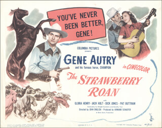 STRAWBERRY ROAN MOVIE CAST - LOBBY CARD UNSIGNED (USA)