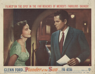 PLUNDER OF THE SUN MOVIE CAST - LOBBY CARD UNSIGNED (USA) 1953