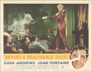 BEYOND A REASONABLE DOUBT MOVIE CAST - LOBBY CARD UNSIGNED (USA) 1956