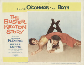 BUSTER KEATON STORY MOVIE CAST - LOBBY CARD UNSIGNED (USA) 1957