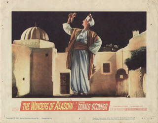 WONDERS OF ALADDIN MOVIE CAST - LOBBY CARD UNSIGNED (USA) 1961