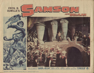 SAMSON & DELILAH MOVIE CAST - LOBBY CARD UNSIGNED (USA) 1960