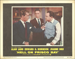 HELL ON FRISCO BAY MOVIE CAST - LOBBY CARD UNSIGNED (USA) 1955