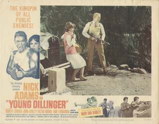 YOUNG DILLINGER MOVIE CAST - LOBBY CARD UNSIGNED (USA) 1965