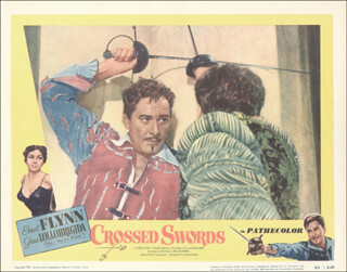 CROSSED SWORDS MOVIE CAST - LOBBY CARD UNSIGNED (USA) 1953