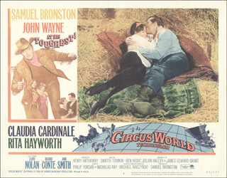 CIRCUS WORLD MOVIE CAST - LOBBY CARD UNSIGNED (USA)