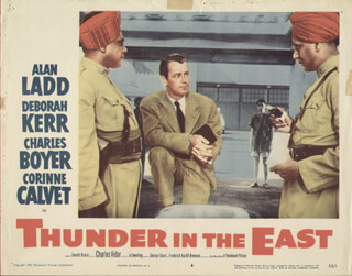 THUNDER IN THE EAST MOVIE CAST - LOBBY CARD UNSIGNED (USA) 1952