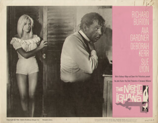 NIGHT OF THE IGUANA MOVIE CAST - LOBBY CARD UNSIGNED (USA) 1964