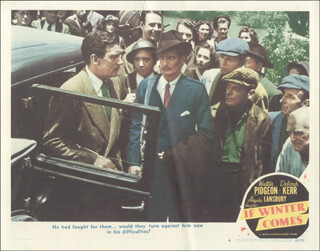 IF WINTER COMES MOVIE CAST - LOBBY CARD UNSIGNED (USA) 1947