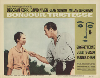 BONJOUR TRISTESSE MOVIE CAST - LOBBY CARD UNSIGNED (USA) 1958