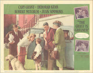 GRASS IS GREENER MOVIE CAST - LOBBY CARD UNSIGNED (USA) 1961