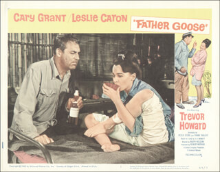 FATHER GOOSE MOVIE CAST - LOBBY CARD UNSIGNED (USA) 1965