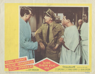 KISS THEM FOR ME MOVIE CAST - LOBBY CARD UNSIGNED (USA) 1957