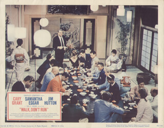 WALK DON''T RUN MOVIE CAST - LOBBY CARD UNSIGNED (USA) 1966