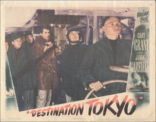 DESTINATION TOKYO MOVIE CAST - LOBBY CARD UNSIGNED (USA) 1943