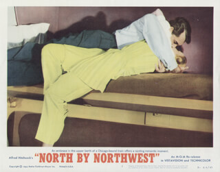NORTH BY NORTHWEST MOVIE CAST - LOBBY CARD UNSIGNED (USA) 1959