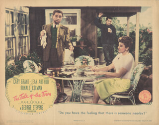 TALK OF THE TOWN MOVIE CAST - LOBBY CARD UNSIGNED (USA)