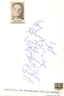 DON RICKLES - AUTOGRAPH NOTE SIGNED