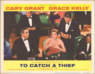 TO CATCH A THIEF MOVIE CAST - LOBBY CARD UNSIGNED (USA) 1955