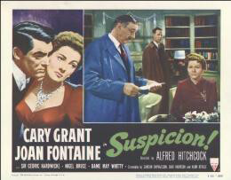 SUSPICION MOVIE CAST - LOBBY CARD UNSIGNED (USA) 1953