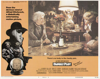 FAMILY PLOT MOVIE CAST - LOBBY CARD UNSIGNED (USA) 1976